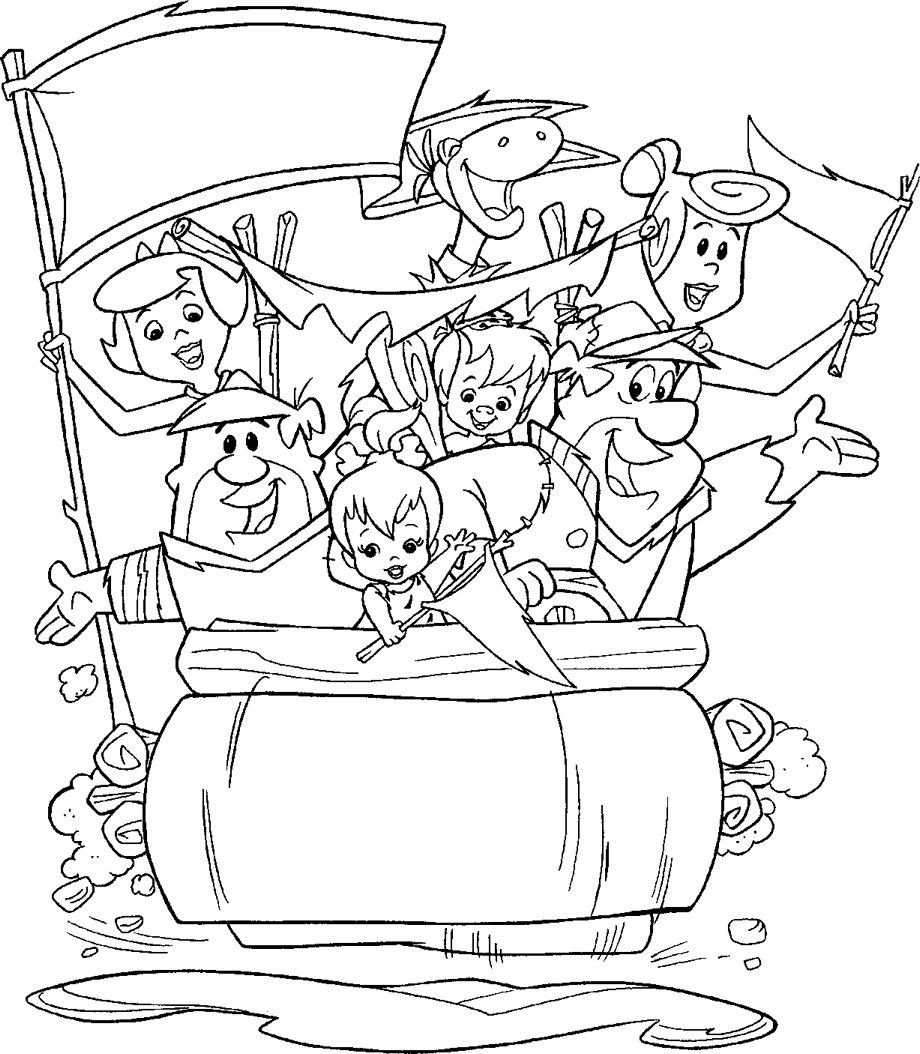 Printable coloring pages rooms house - Funny Flintstones Coloring Pages For Kids Printable Free Flintstones