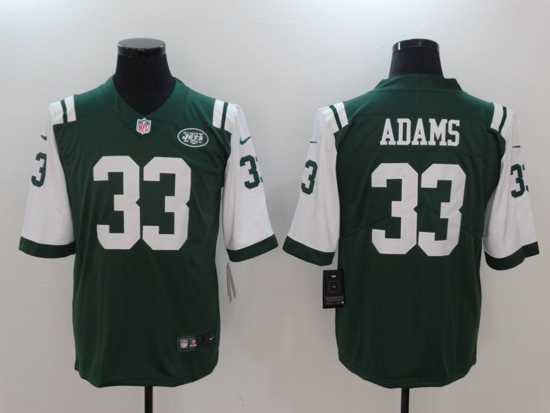 official photos d60b5 733ee Men New York Jets 33 Adams Green Nike Vapor Untouchable ...