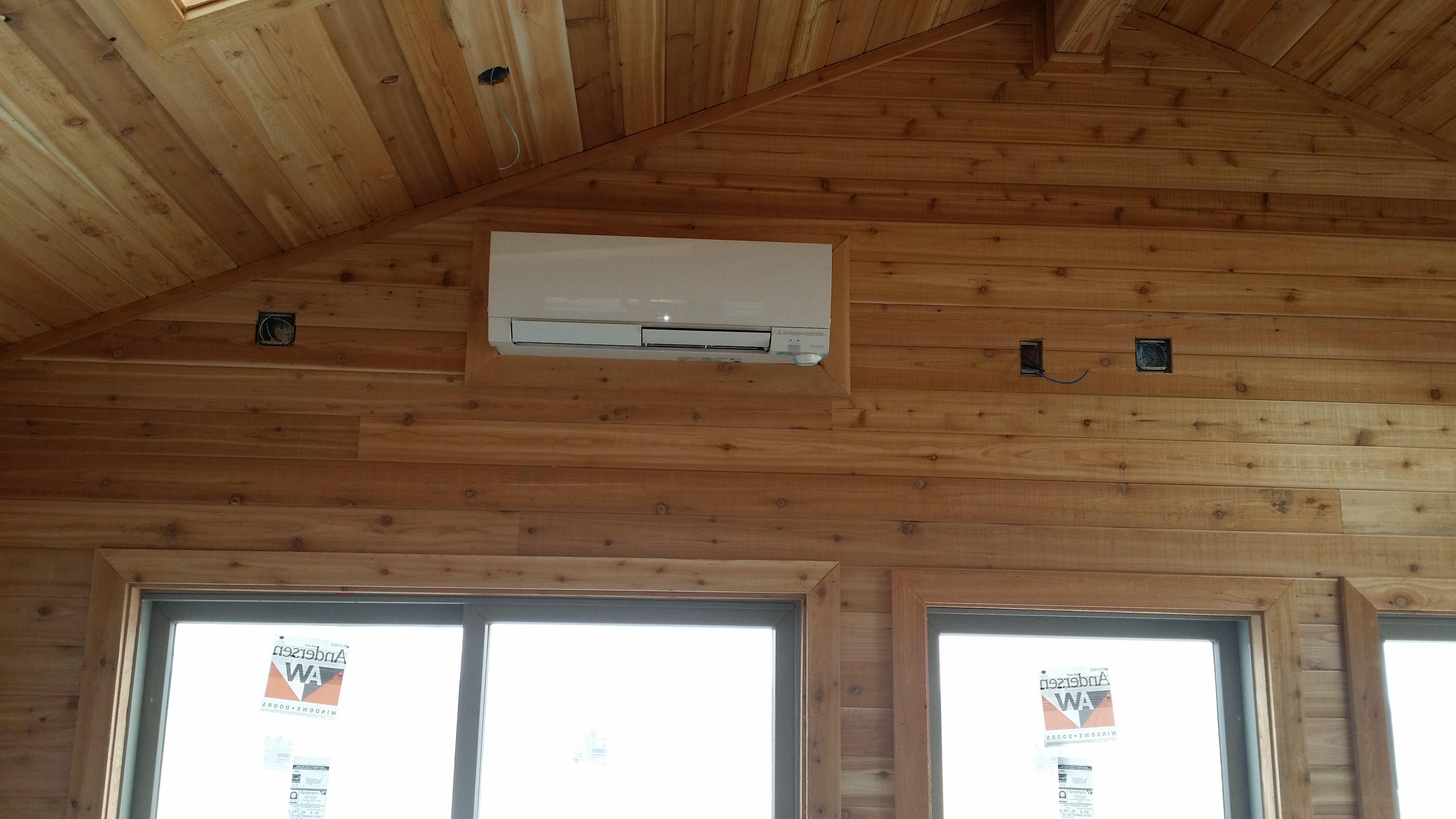 Mitsubishi Wall Mount In Cedar Room Addition Ductless Heating