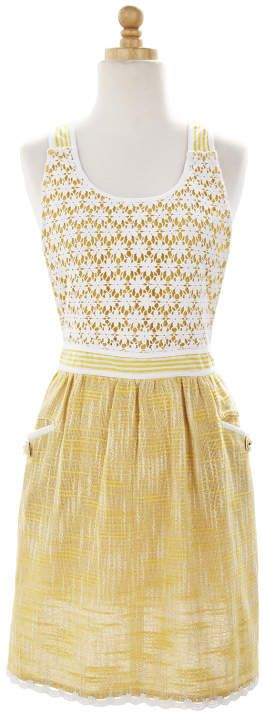 Sur La Table Yellow Lace Apron Apron Inspiration