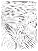Famous paintings Coloring pages. Select from 23020