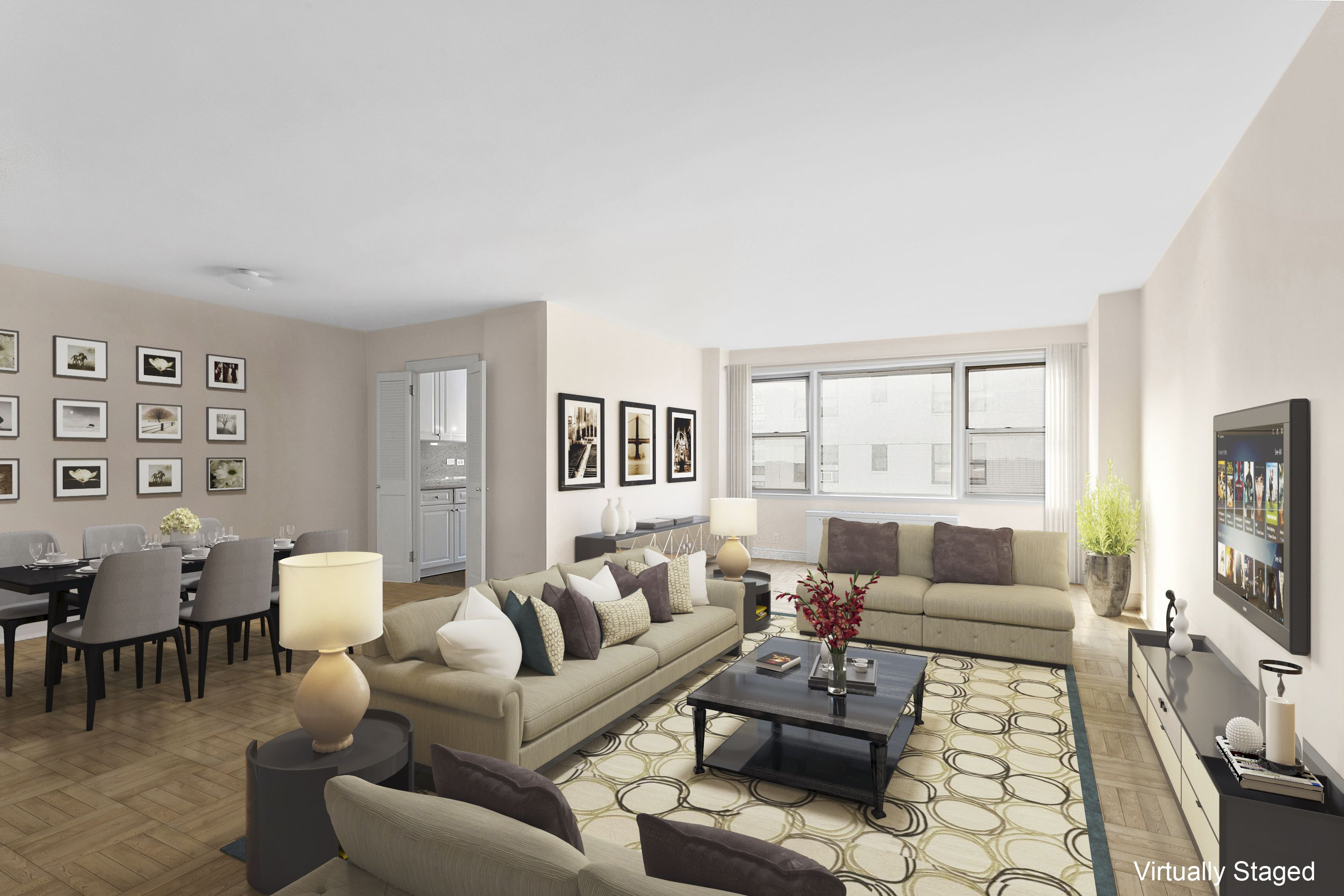 Fabulous living room in a two bedroom residence at 177