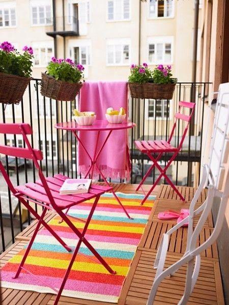 La Buhardilla - Decoración, Diseño y Muebles: Terrazas llenas de color