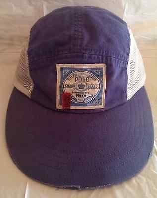 Vintage Ralph Lauren Polo patch longbill mesh 5 panel cap RARE stadium  pwing usa 139dc237b1e