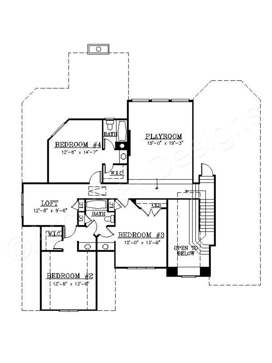 Hartley ii house plans plan second floor archival designs also rh pinterest