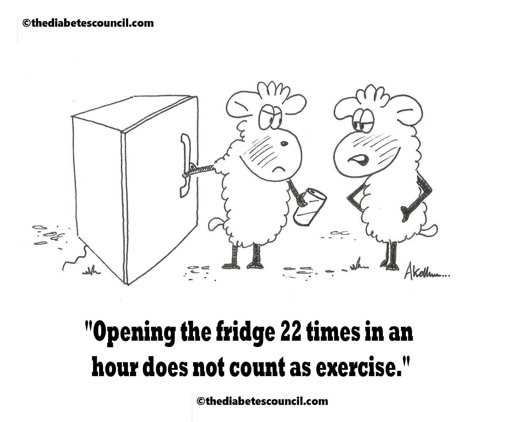 Workout anyone #thediabetescouncil #diabetescartoons #