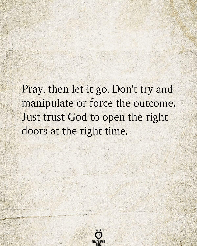 Pray, Then Let It Go.