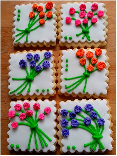 Mothers Day spring bouquet sugar cookies by Baked Ambition