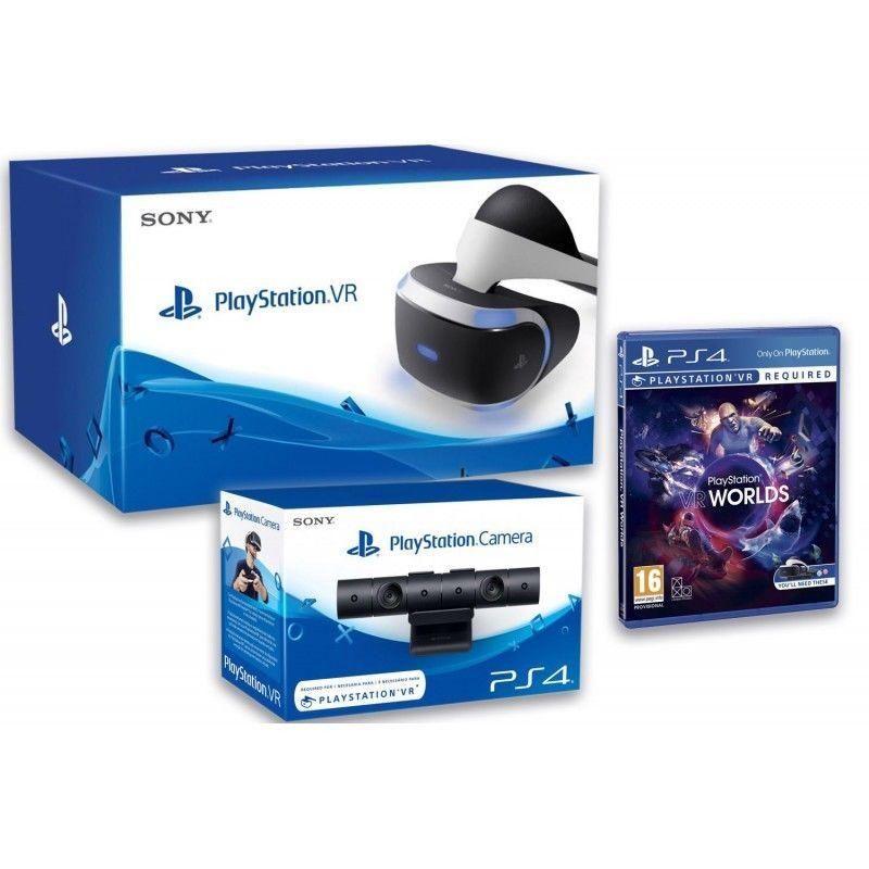 Gafas Sony Playstation Vr Mk3 Camara V2 Vr Worlds Entra En El Mundo