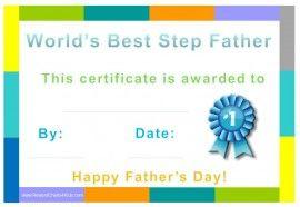 best step dad certificate stuff to buy pinterest certificate