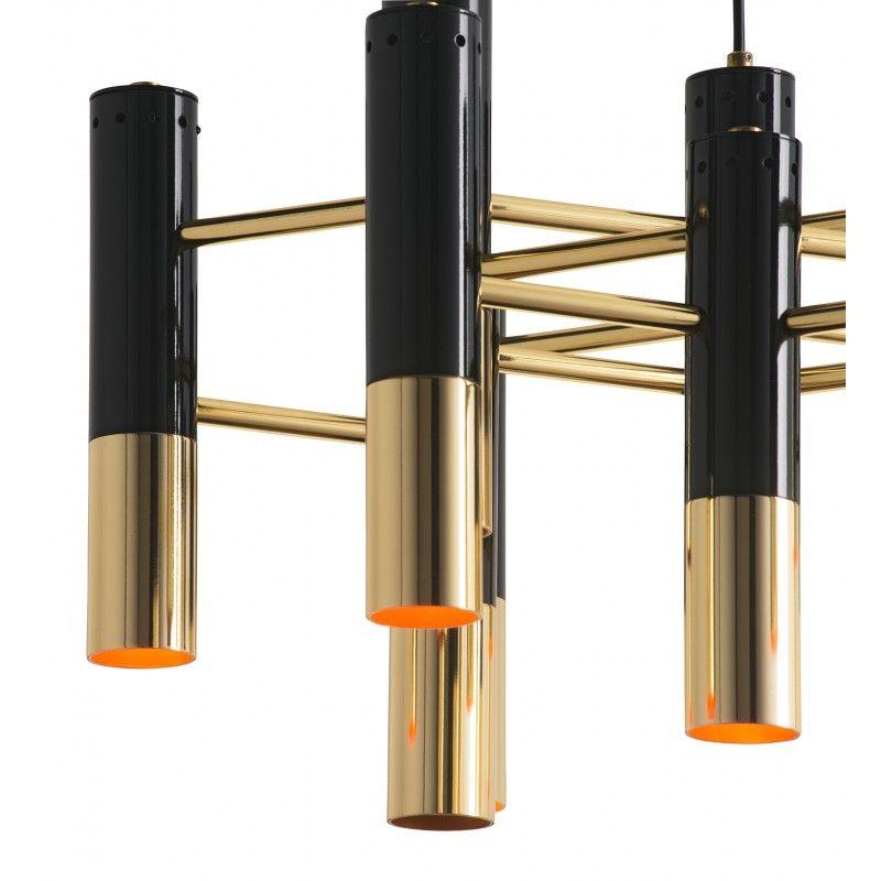 Industry West Lalique Suspension Lamp