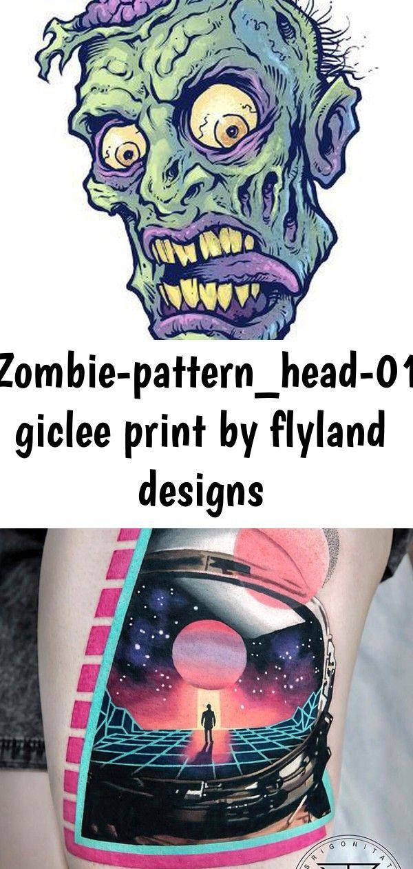 Giclee Print ZombiePattern_Head01 by FlyLand Designs