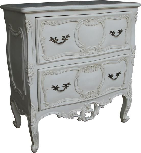Elegantly Carved Rococo Chest Of Drawers. Finished With An Antique White  Paint. Available From · FassmöbelWeiße SchlafzimmermöbelKommodeWeißes ...