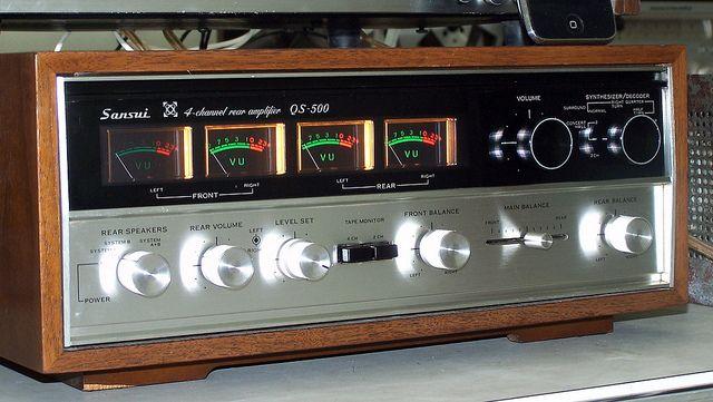 quot sansui qs 500 vintage quadraphonic rear amplifier Realistic Amplifier Quadraphonic Marantz Quadraphonic Amplifier