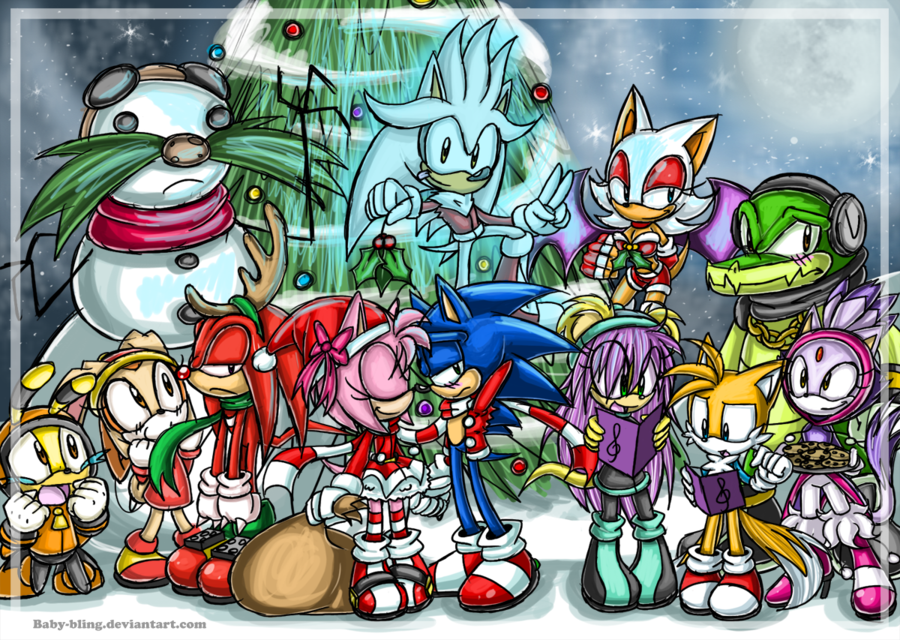 Sonic Christmas.Merry Christmas 2011 Christmas Every Day Sonic The