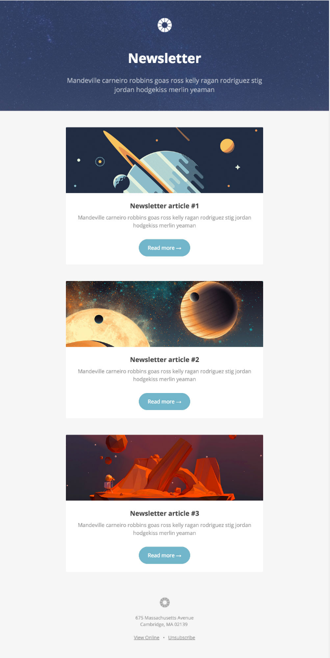 Free Email Newsletter Templates | 13 Of The Best Email Newsletter Templates And Resources To Download