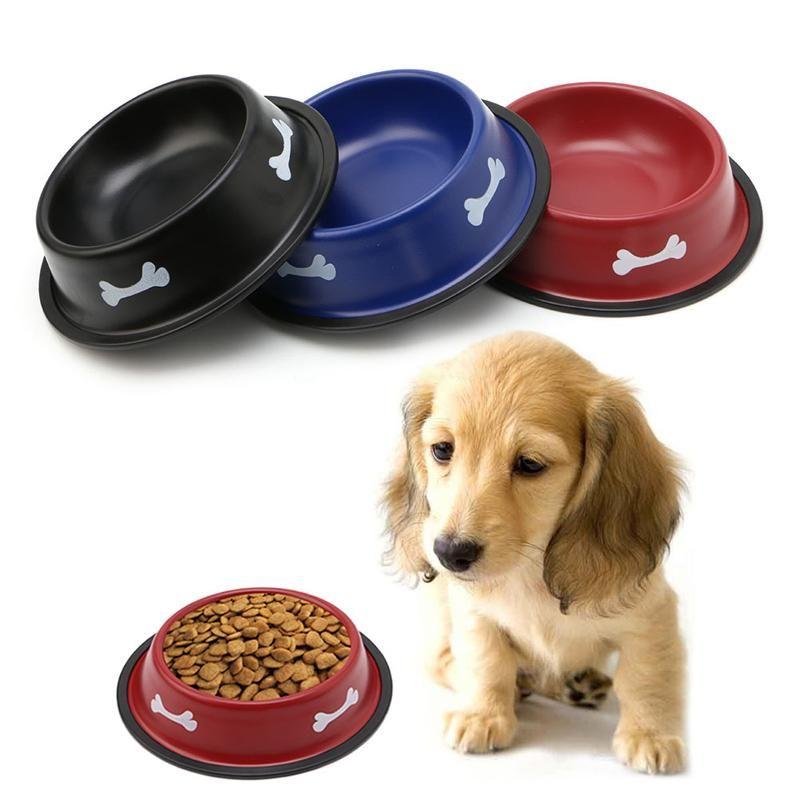 Anti Slip Colorful Pet Cat Dog Food Bowl Feeder Dog Food Bowls