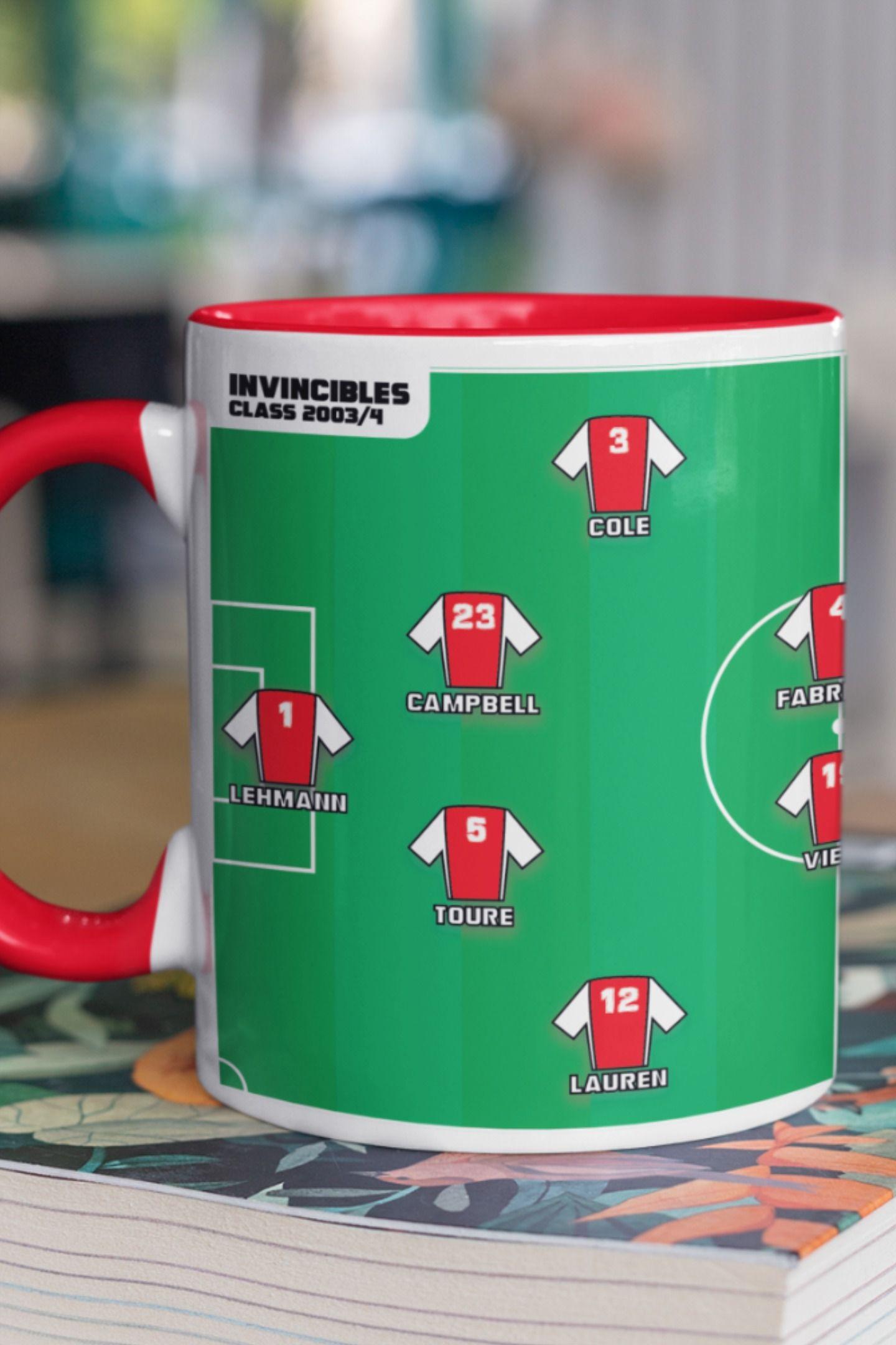 Arsenal The Invincibles Squad Mug Arsenal Mug Football Mug Gunners Arsenal Football Gift Football Gifts Mugs Arsenal Football
