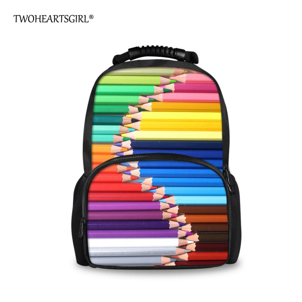 TWOHEARTSGIRL Rainbow Color Backpack for Women Unique Preppy Style ...