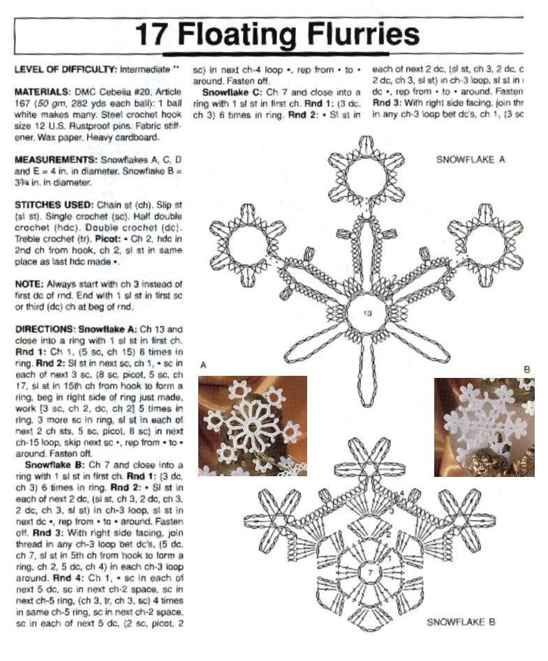 Esquemas de copos de nieve   SexyCrochet.COM   Crochet   Pinterest