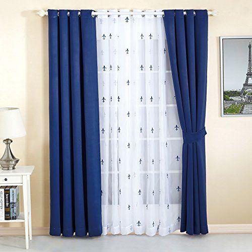 Serenta Fleur De Lis Thermal Insulated Blackout Curtains 6