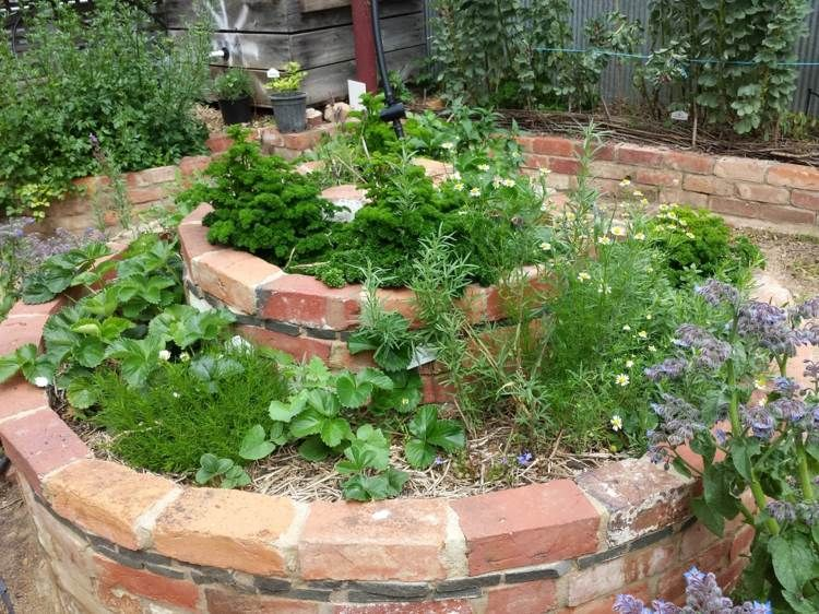 Am nagement jardin cr ez votre spirale d 39 herbes - Petit jardin aromatique ...