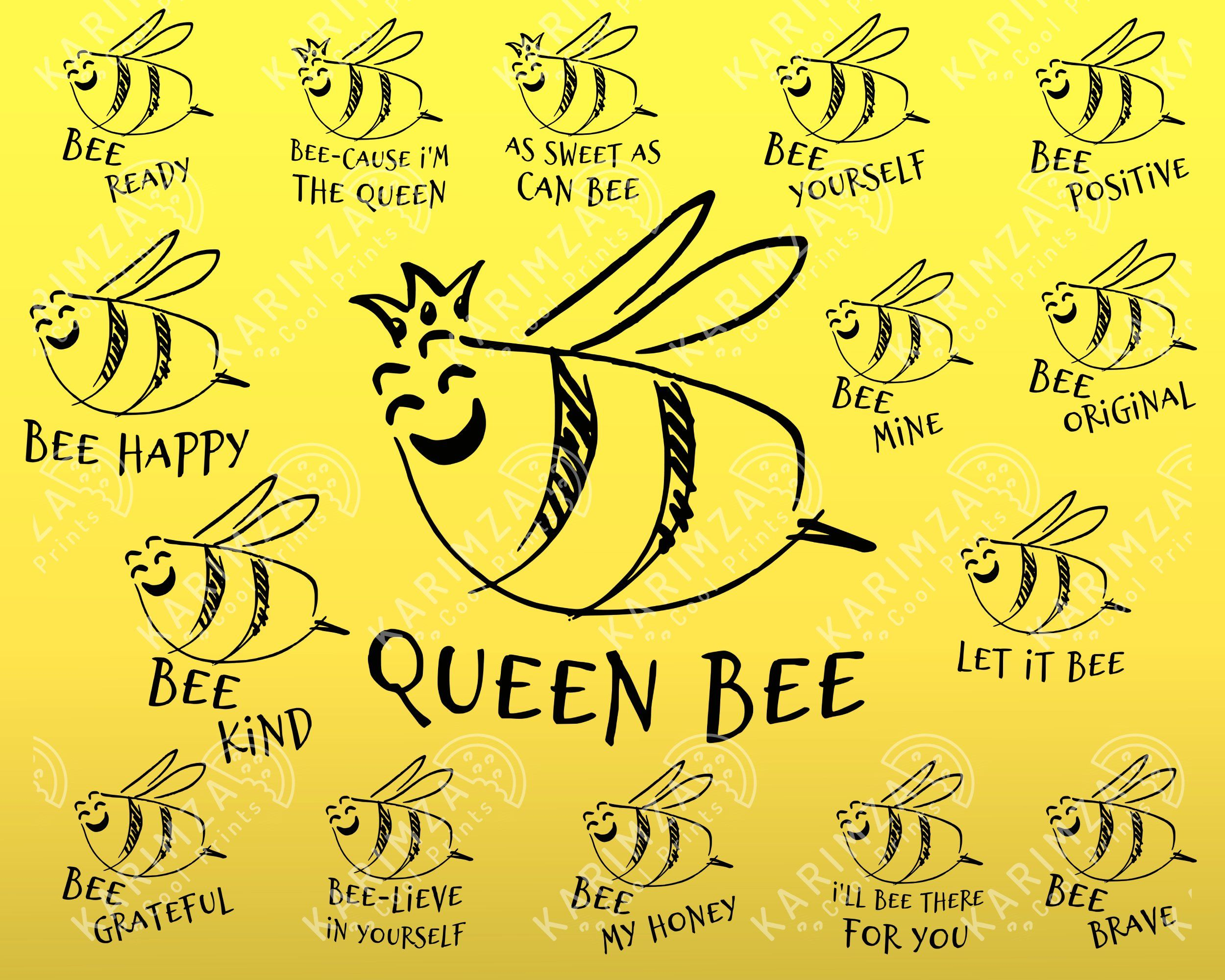 Bee Quotes Svg Bundle Queen Bee Let It Bee Bee Kind Happy In 2021 Bee Quotes Cute Funny Quotes Svg Quotes