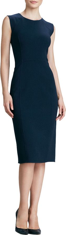 Oscar de la renta navy dress