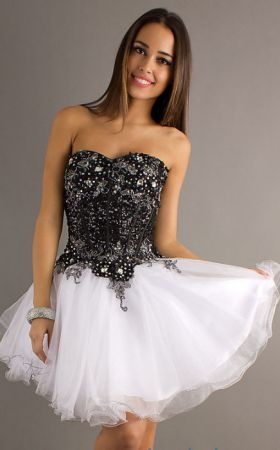 51077a25f97 Alyce Black and White Party Dress