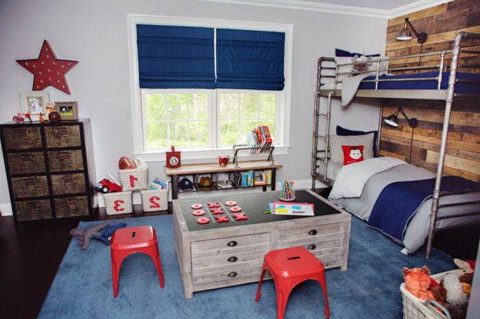 jungen kinderzimmer kleine stühle spiel brettspiel im zimmer, Wohnideen design