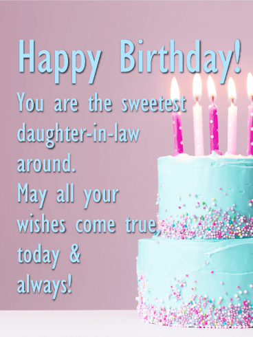 Happy Birthday Wishes For Daughter In Law Happy Birthday