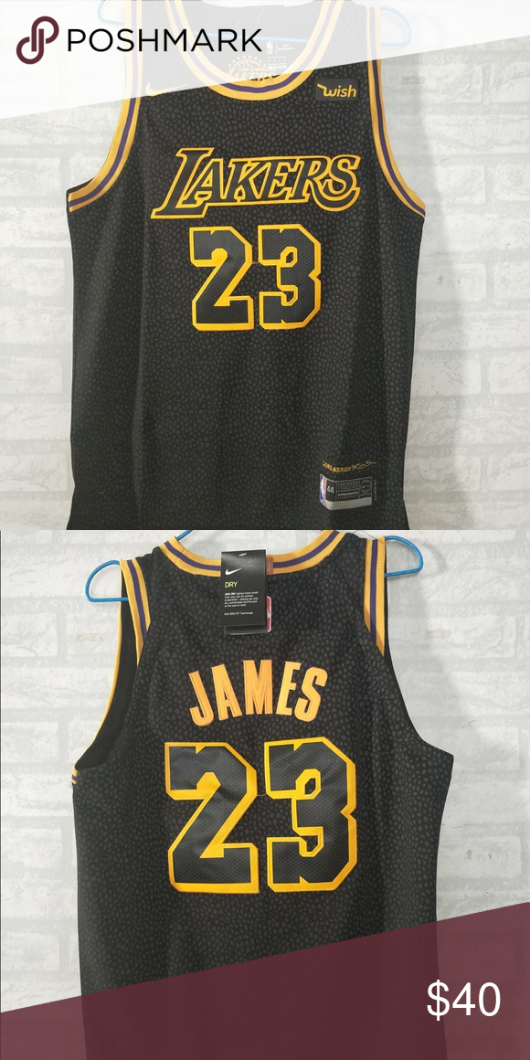 d3e50979096 LeBron James  23 Lakers black jersey Brand new with tag