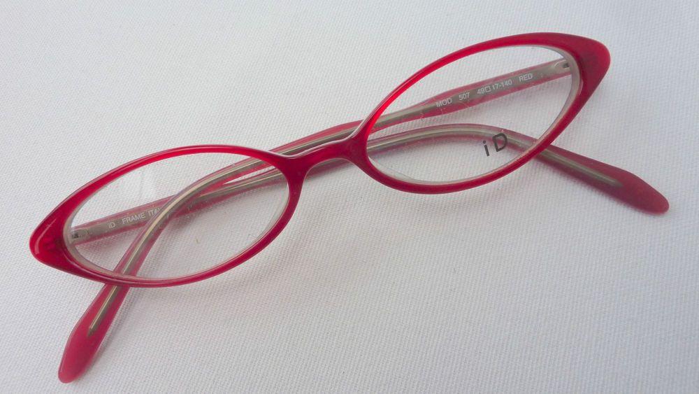 Brille Fassung Damenbrille Cateye Kunststoff rot spitz mandelform ...