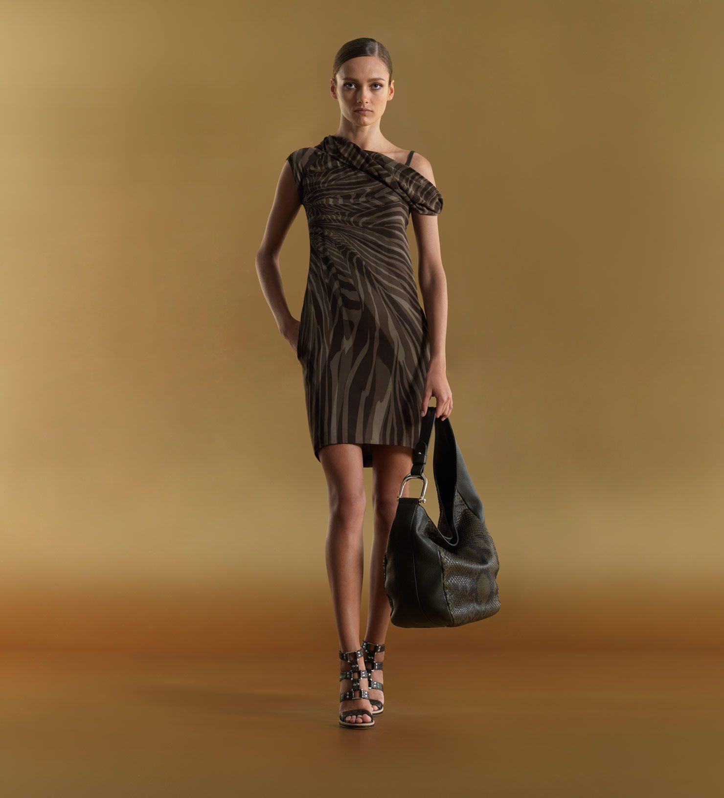 Fashion+gucci   Gucci womenu2019s twist neck dress with drapery print.   FASHION   Pinterest   Gucci ...