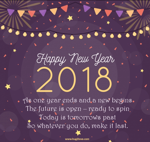 Happy New Year 2018 Quotes : QUOTATION U2013 Image : Quotes Of The Day U2013  Description Awesome New Year 2018 Wishes Quotes Sharing Is Power U2013 Donu0027t  Forget To ...