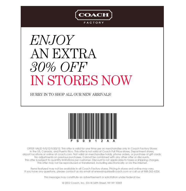 coach outlet coupons online