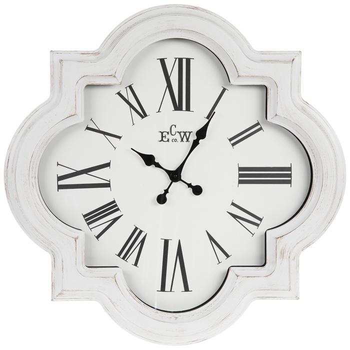 White Quatrefoil Wall Clock Hobby Lobby 1805282 Wall Clock Clock Large Wall Clock