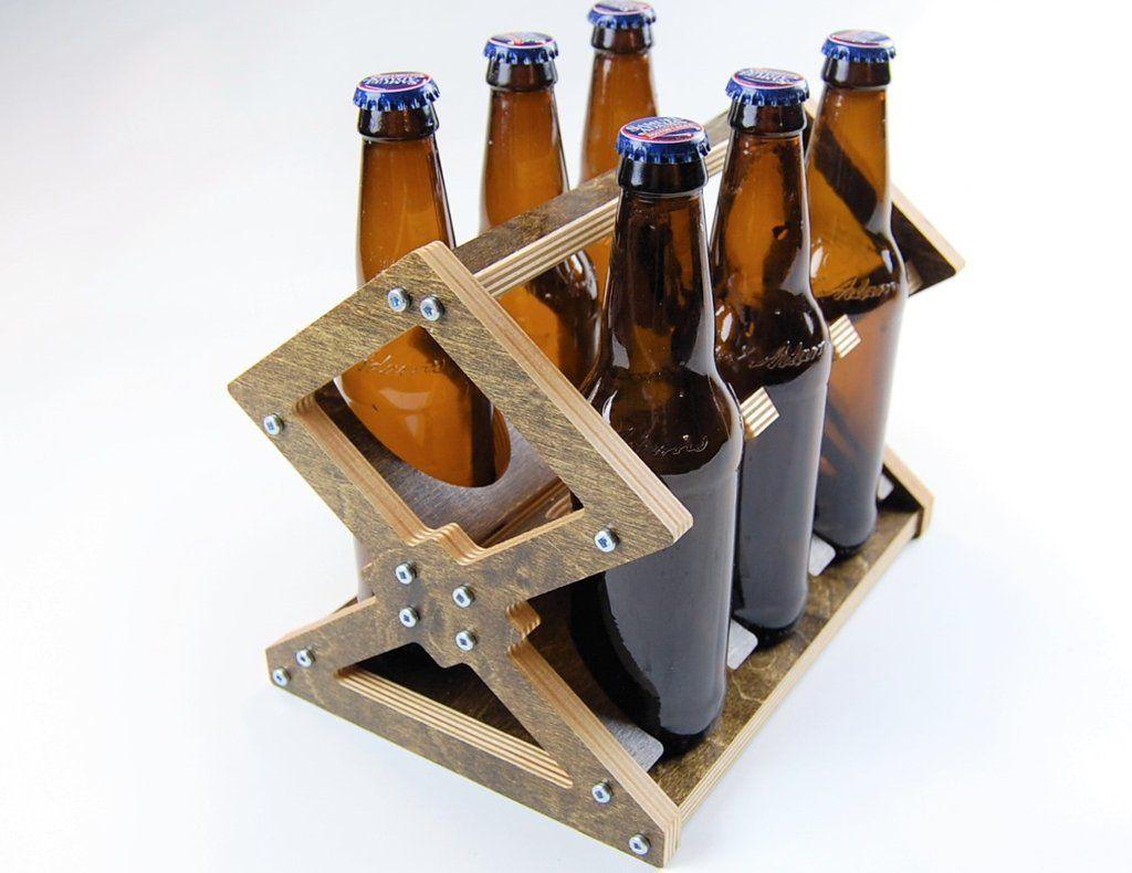 Beer Bottle Six Pack Carrier Beer Wood Bottles Beer Carrier