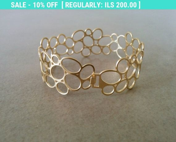 Circle Bracelet Gold Eternity Cuff