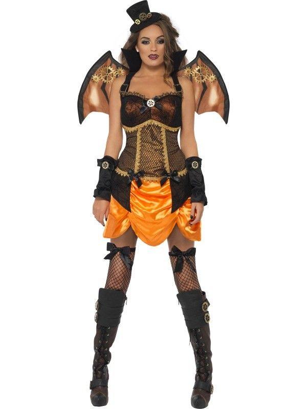 Fever Steam Punk Victorian Sexy Bat Costume