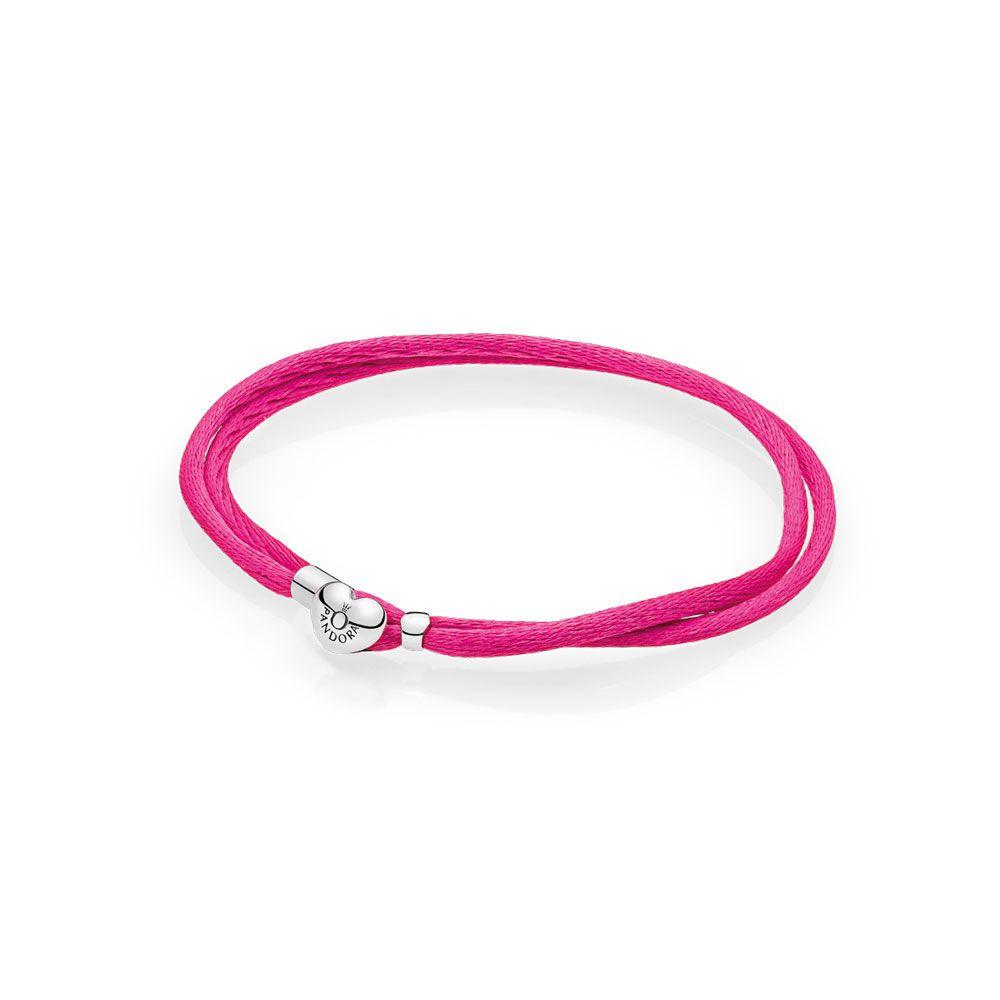 4bf20afdf Fabric Cord Bracelet, Hot Pink   PANDORA Jewelry US   Valentine's in ...