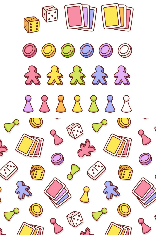 Board Game Pieces Set In 2021 Board Game Pieces Game Pieces Web Design Icon