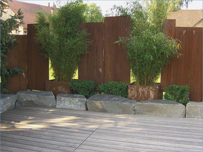 Bildergebnis für sichtschutz garten stahl Garten Pinterest