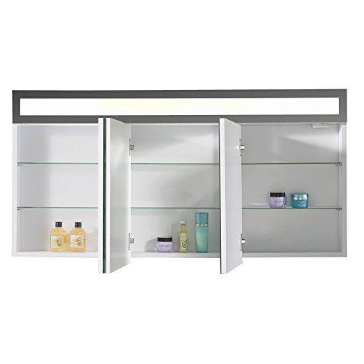Eurosan 3-türiger Spiegelschrank, Superflache, Integrierte LED - küche in polen kaufen