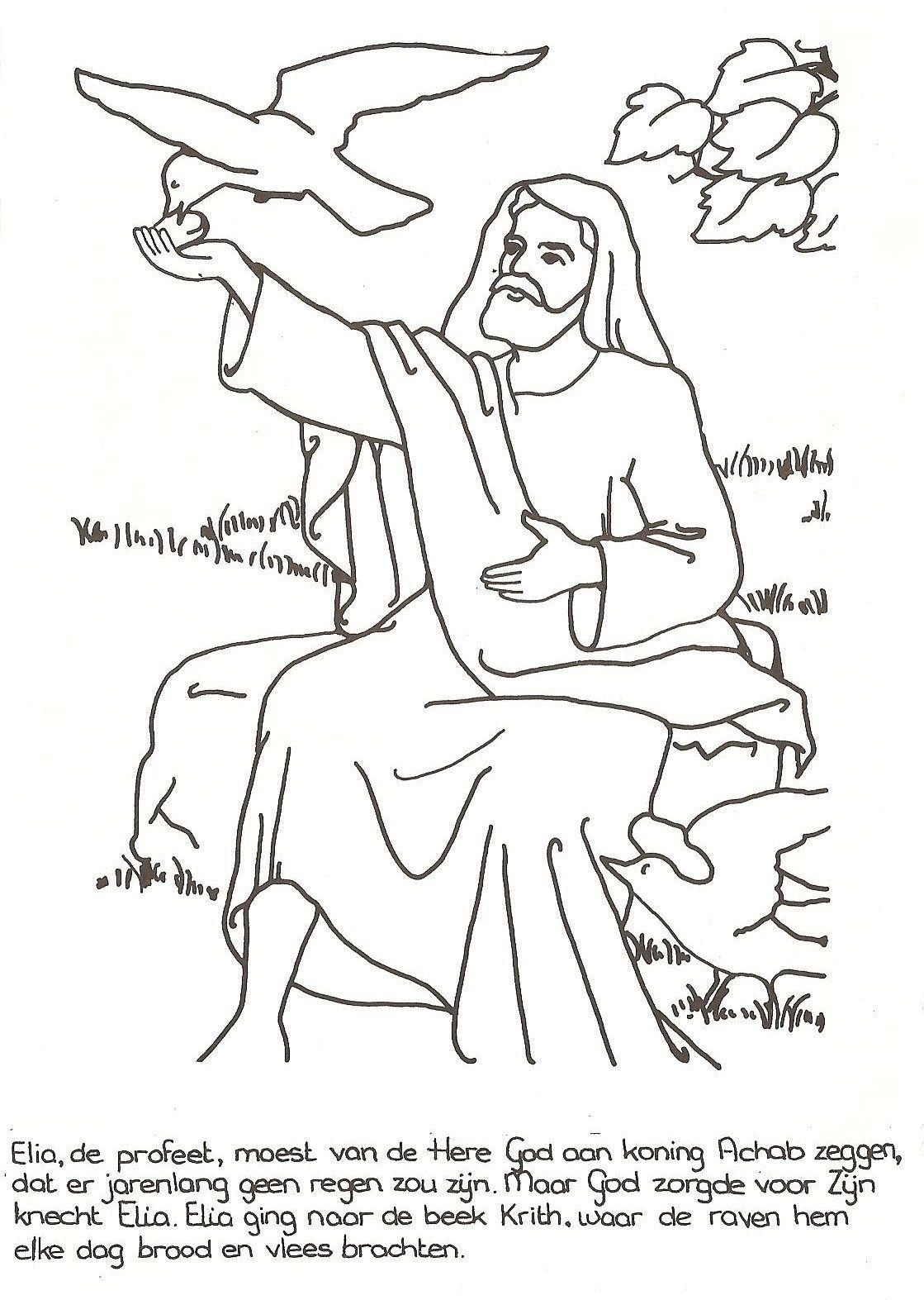 Elia en de raven   Kleurboekje nr 2/Kleurboek oude testament ...