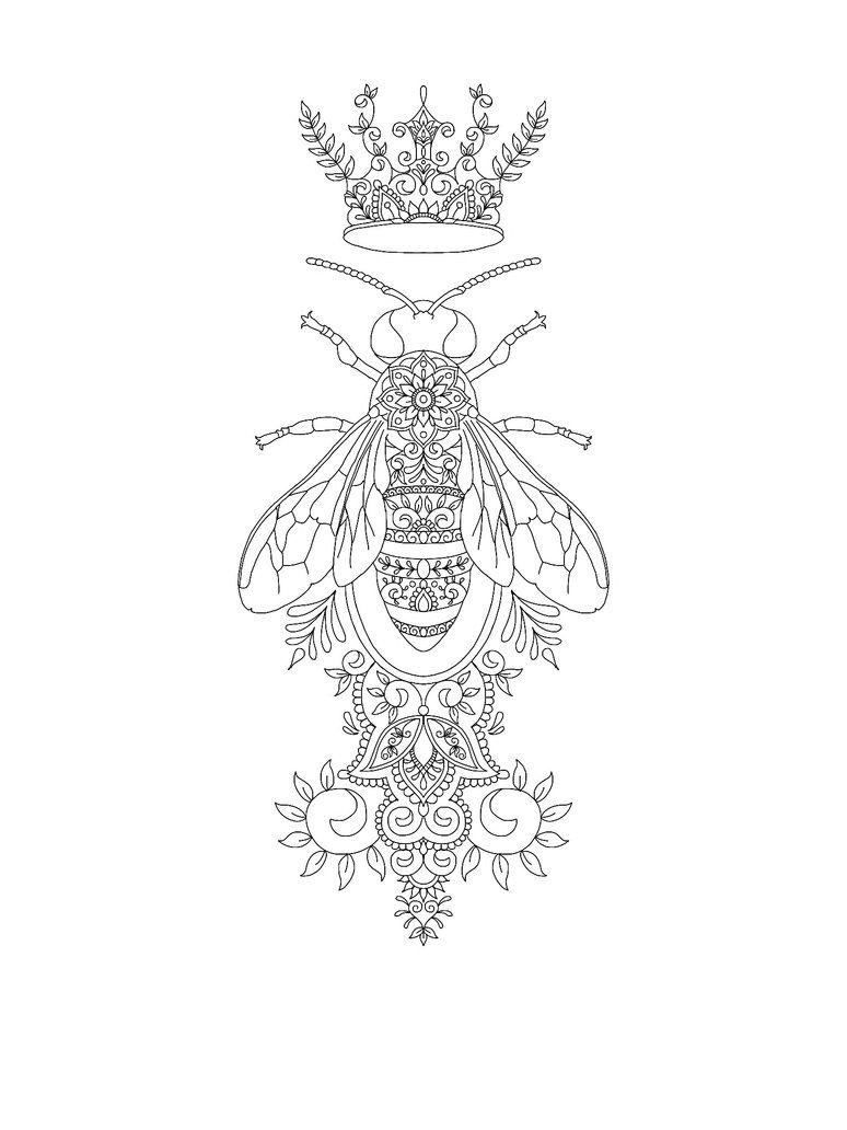 Queen Bee Tattoo Design By Https Www Deviantart Com Vixy Art On Deviantart Bee Art Queen Bee Tattoo Bee Tattoo