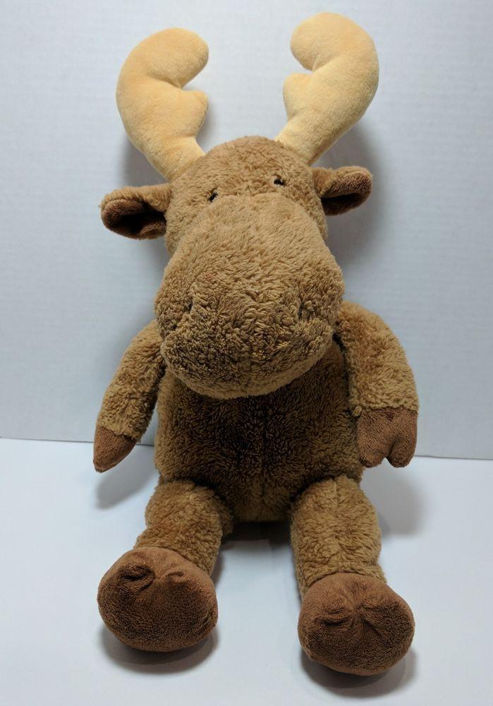 Plush stuffed animal brown moose #KohlsCares | Stuffed Animals ...