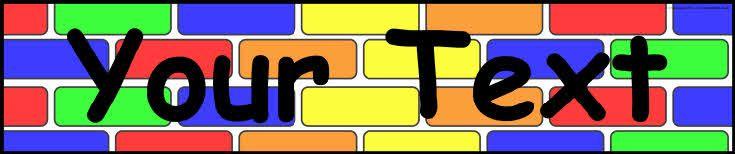 Editable brick wall display banner templates (SB7220) - SparkleBox ...