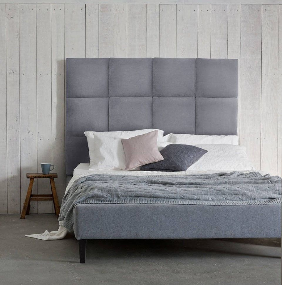 Bedroom Elegant Upholstered Panel Bed Design Idea Feat Mini Nightstand With Rustic Vertical Wood Bedroo Upholstered Beds Headboards For Beds Wood Walls Bedroom