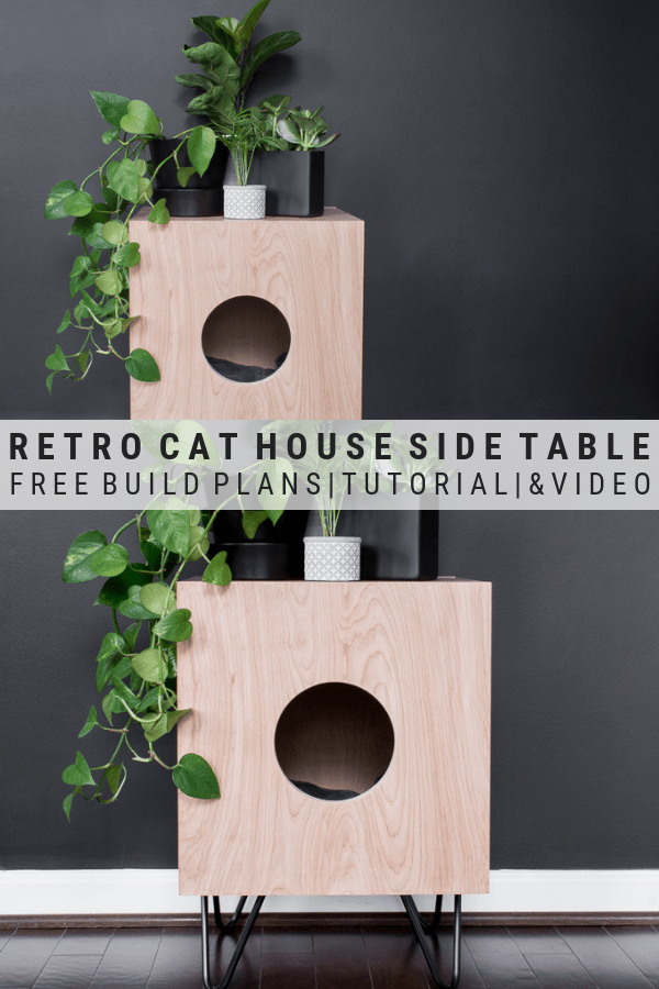 How To Build A Stunning Cat House Side Table For Your Kitties Cat House Diy Cat House Modern Cat Furniture